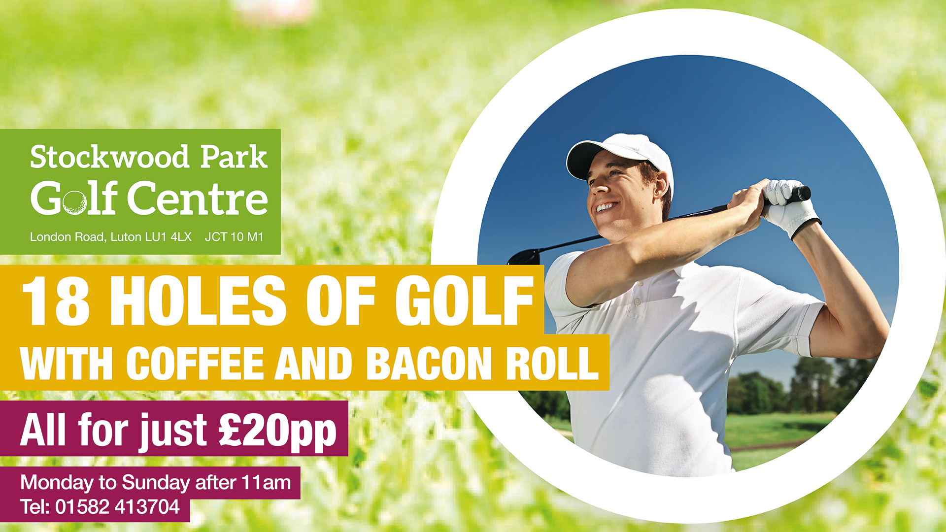 18-holes of Golf, Bacon Roll and Coffee for £20