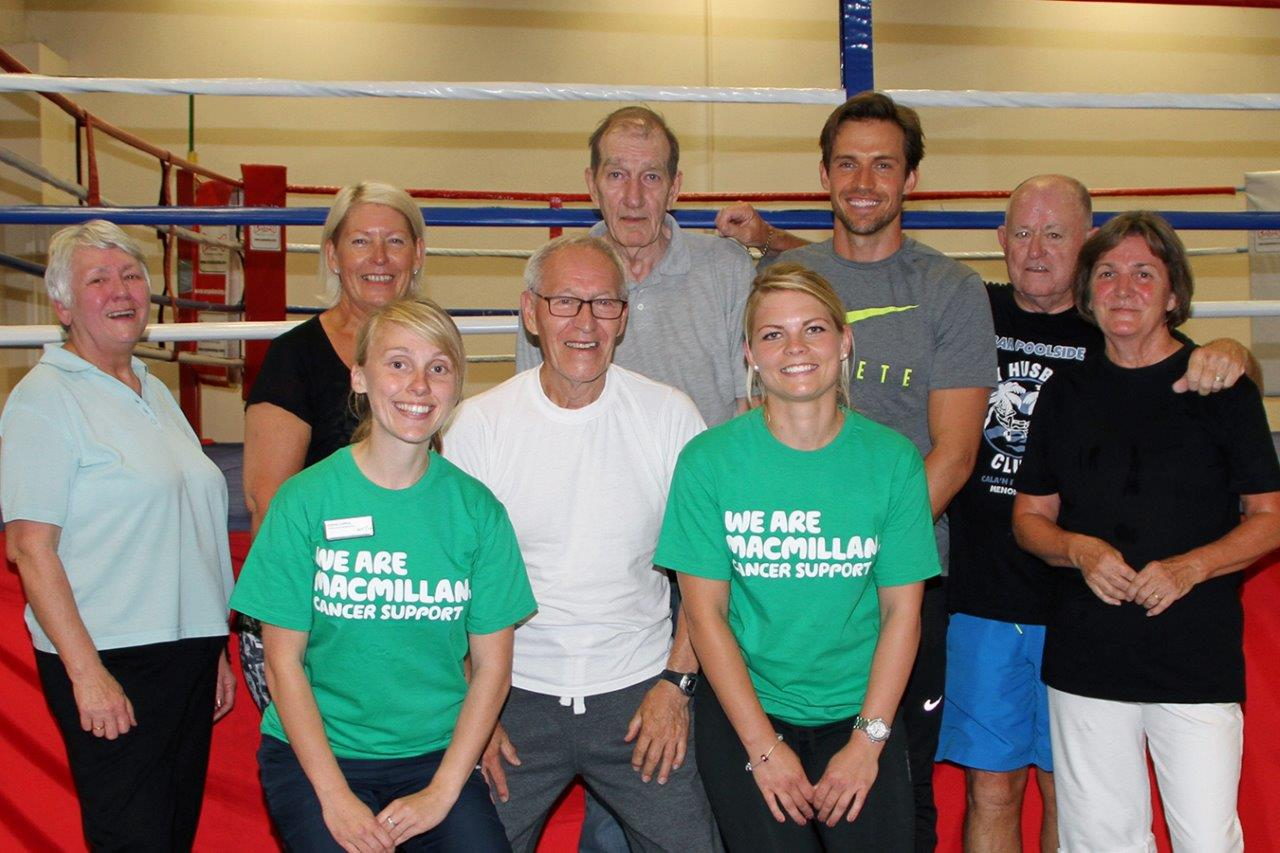 TV Model Shows Support for Macmillan Move More at Lewsey